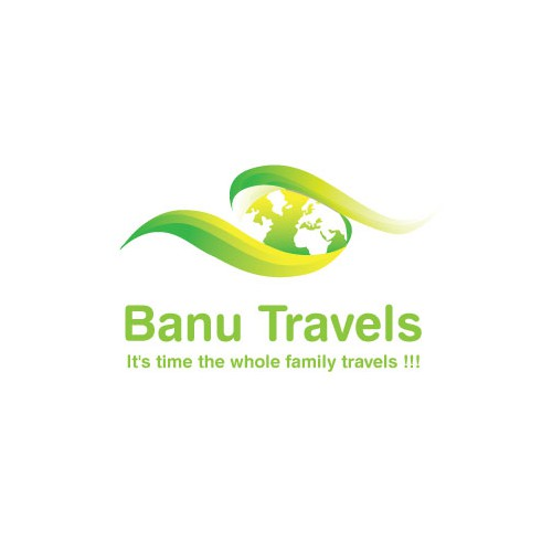 Voyage design with the title 'banu travels'