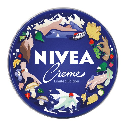 Fruit artwork with the title 'Nivea Limited Edition 2021'