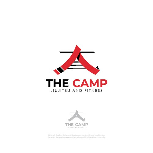 Belt logo with the title 'The Camp Logo'