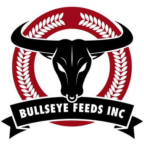 Bull brand with the title 'Logo deign for an argricultural business'