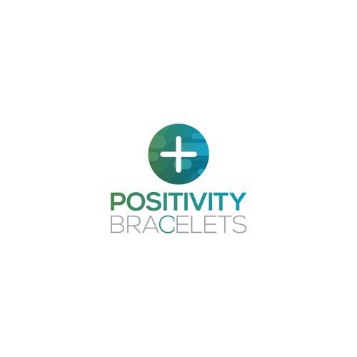 Bracelet logo with the title 'Logo Design for Positivity Bracelets'