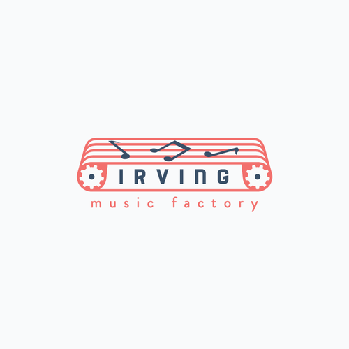 Factory logo with the title 'New logo wanted for Irving Music Factory'