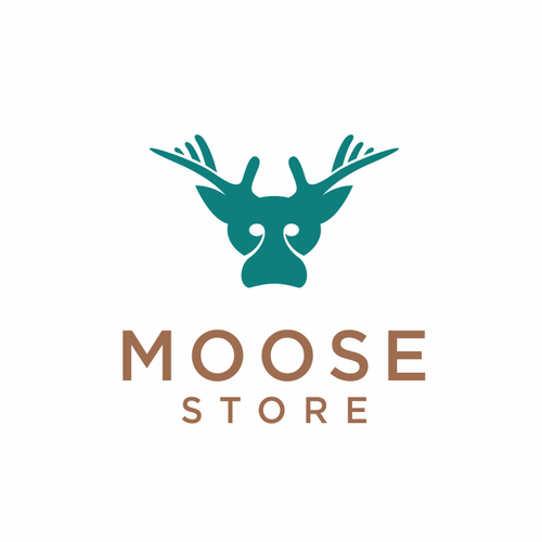 Ecommerce logo with the title 'moose store'