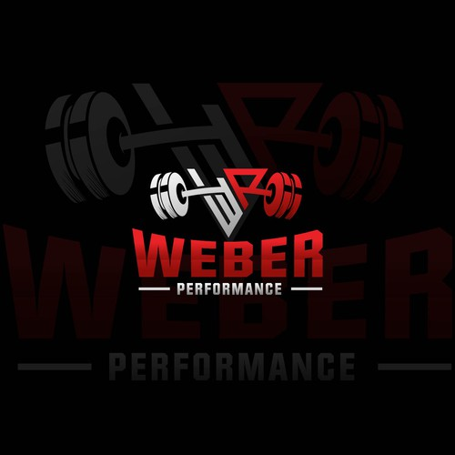 Bodybuilding logo with the title 'Weber Performance'