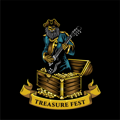 Treasure design with the title 'Motorcycle Rally Logo'