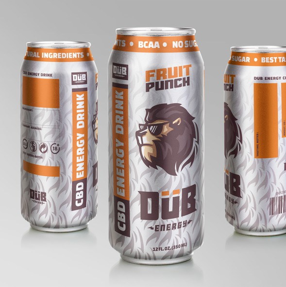 Energy drink design with the title 'Logo and Label Design for Beverage Company'