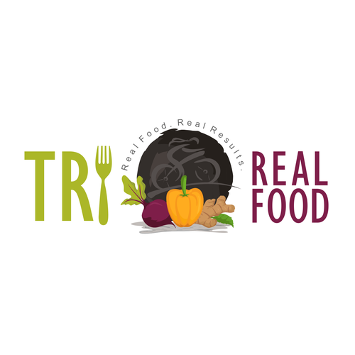 Pepper design with the title 'Tri Real Food - Healthy Food'