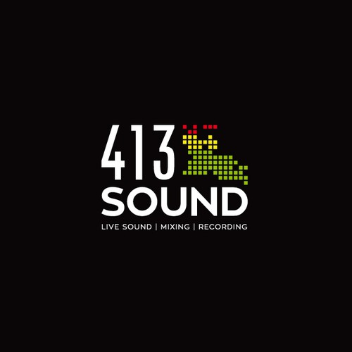 Heavy equipment logo with the title 'Live sound and studio recording logo'