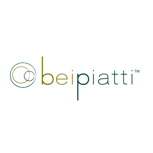 Merchant logo with the title 'BeiPiatti - Logo for unique Italian ceramics import company'