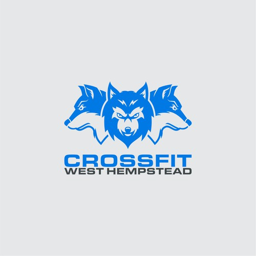 Wolf logo with the title 'CrossFit logo'