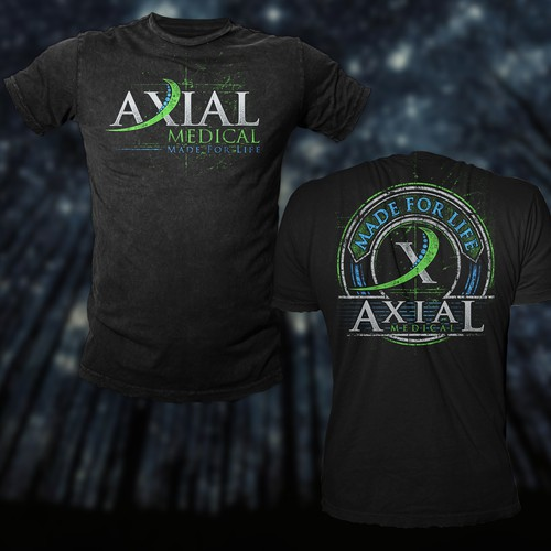 Medical t-shirt with the title 'T Shirt Design For Axial Medical'