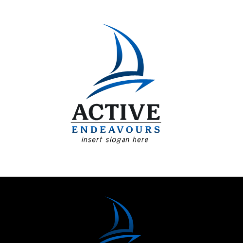 Cruise ship logo with the title 'Active Endeavours'