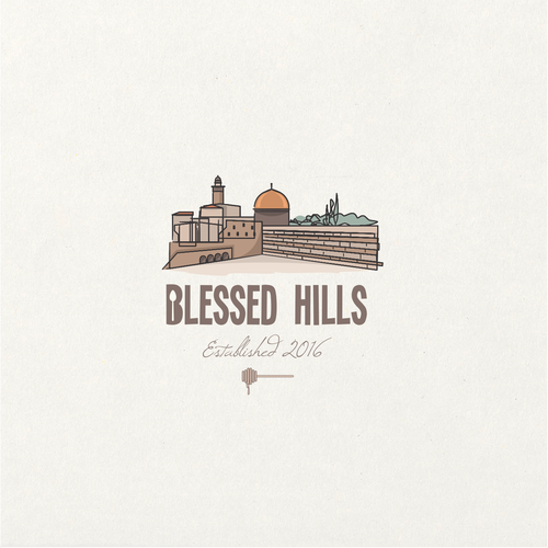 Warm logo with the title 'Jerusalem inspired logo design'