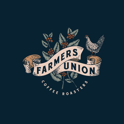Coffee brand with the title 'Farmers Union Coffee Roasters'