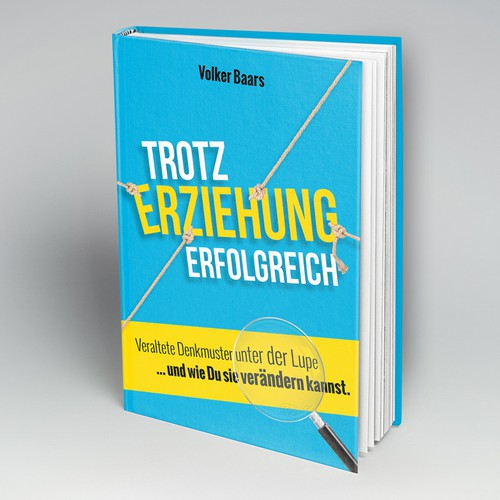 Interesting design with the title 'Cover for a coachingbook'