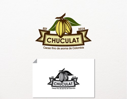 Cacao logo with the title 'LIKE CHOCOLATE? DESIGN A LOGO FOR IT!'