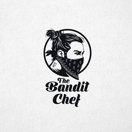 Scarf design with the title 'The Bandit Chef'