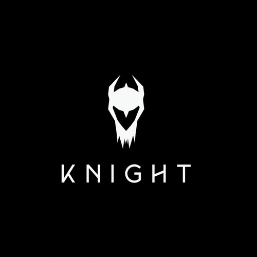 Knight design with the title 'Logo concept for KNIGHT PRODUCTION'