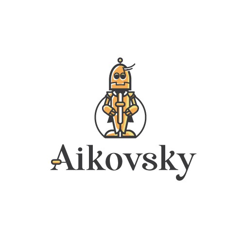 Artificial intelligence logo with the title 'Aikovsky'