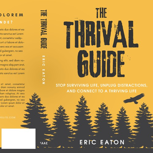 Yellow book cover with the title ''The Thrival Guide' by Eric Eaton'