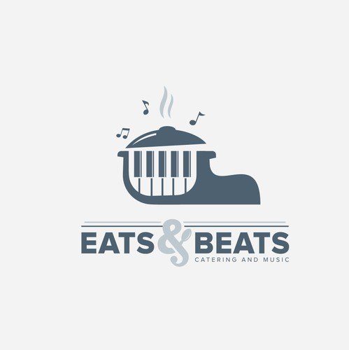 Beat logo with the title 'logo design for Eats & Beats is a catering and entertainment company.'