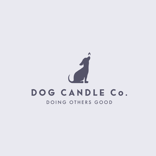Dog logo with the title 'Dog Candle'