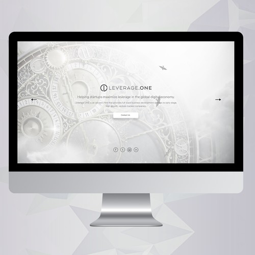 Slider design with the title 'Leverage One'