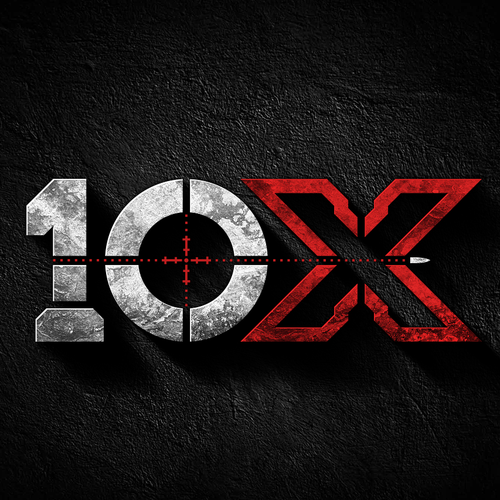Tactical logo with the title 'Logo design for 10X'