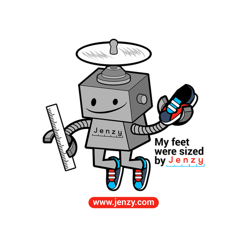 Robot t-shirt with the title 'Shoes Sized Robo'