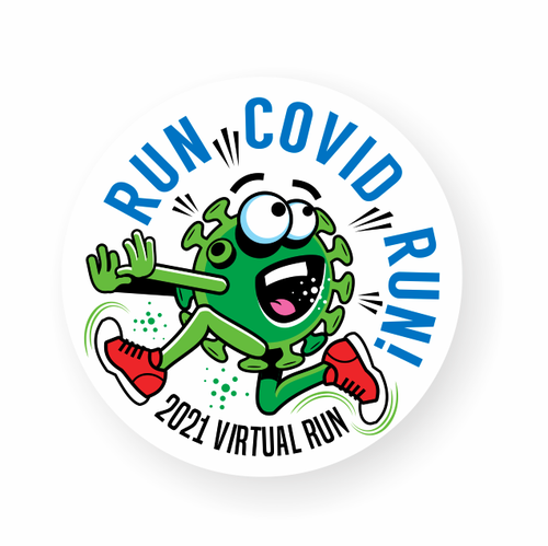 Sticker and decal logo with the title 'Covid Related Design '