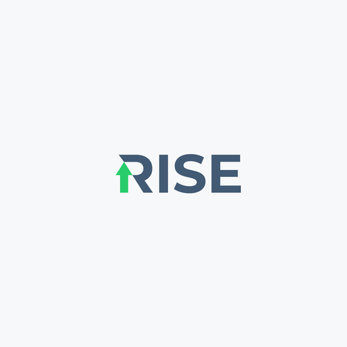 Rise logo with the title 'RISE logo concept'