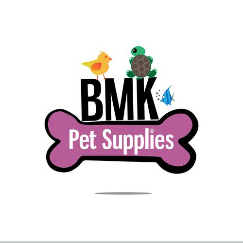 Pet logo with the title 'BMK Pet Supplies'