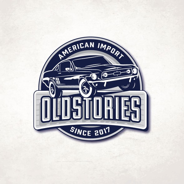 Mustang design with the title 'OLDSTORIES'