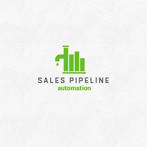 Graph logo with the title 'Logo concept for Sales Pipeline'