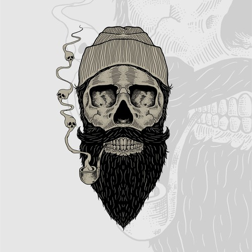 Beard t-shirt with the title 'Beard Skull'