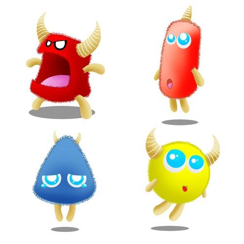 Emoji design with the title 'Cute Monsta'