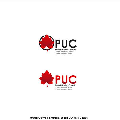 Canadian leaf logo with the title 'Bold logo for PUC'