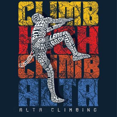 Climbing Typography Design