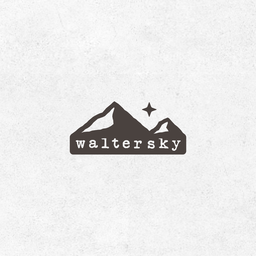 Mountain design with the title 'Walter Sky'