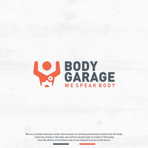 Garage door logo with the title 'Logo design for Body Garage'