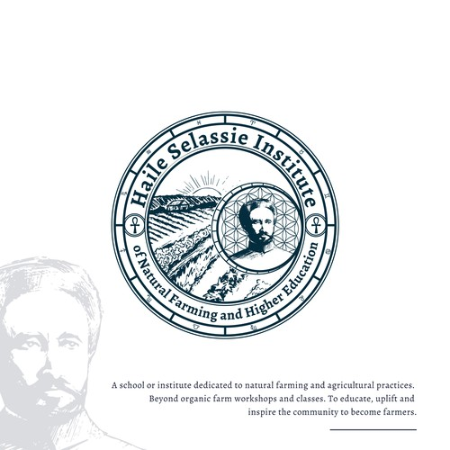 Esoteric logo with the title 'The Haile Selassie Institute of Natural Farming and Higher Education'