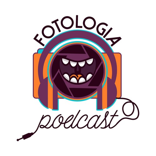 Laughing logo with the title 'Cheeky logo concept for a photography podcast'