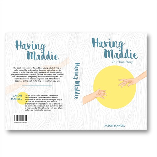 Pastel book cover with the title 'Simple Illustrated Cover Book'