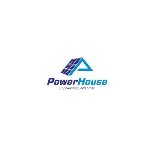 Solar energy logo with the title 'Powerhouse'