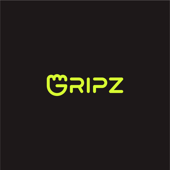 Bright design with the title 'Fun and cool logo for fitness product: GRIPZ'