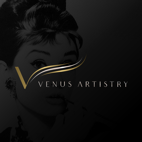 Eyelash logo with the title 'Venus Artistry'