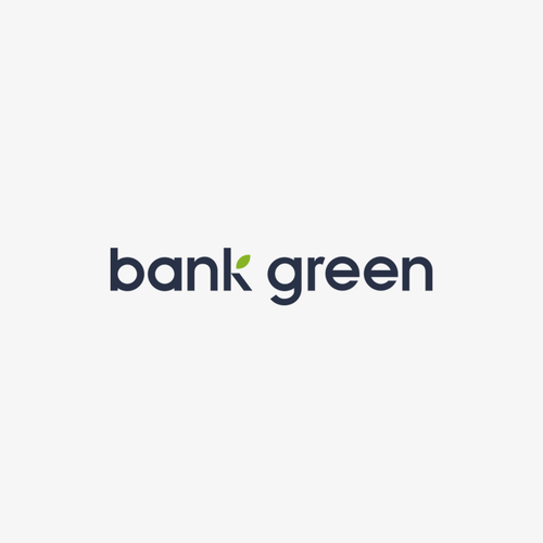 Bank logo with the title 'Bank green'