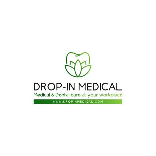 Lotus logo with the title 'Logo Drop-In Medical'