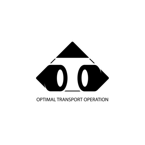 Notebook logo with the title 'Logo concept for transport company'