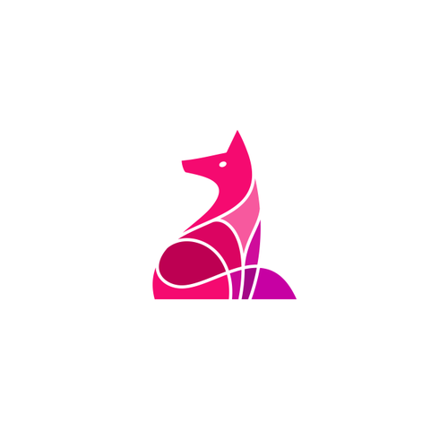Symbol logo with the title 'PINK FOX'